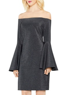 VINCE CAMUTO Metallic Off-the-Shoulder Dress