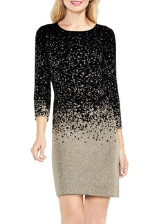 Vince Camuto Metallic Ombrè Sweater Dress