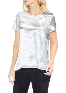 Vince Camuto Metallic Satin Blouse