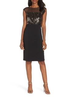 Vince Camuto Metallic Sequin Body-Con Dress