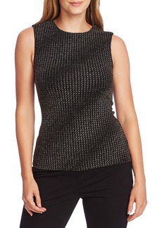 Vince Camuto Metallic Texture Knit Sleeveless Top