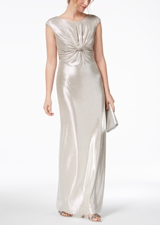 Vince Camuto Metallic Twist-Front Gown