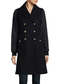 Vince Camuto Mid Length Double Breasted Peacoat