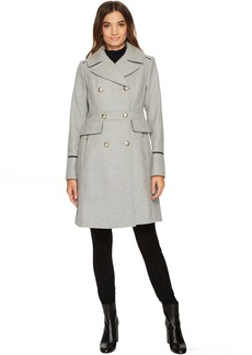 Vince Camuto Military Inspired Wool Coat N8201