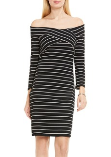 Vince Camuto Mini Stripe Off the Shoulder Dress