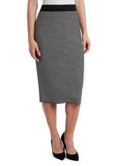 Vince Camuto Mini Stripe Pull-On Skirt