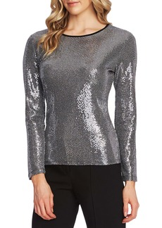 Vince Camuto Mirror Sequin Top