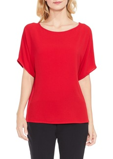 Vince Camuto Mix Media Dolman Sleeve Top