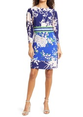 Vince Camuto Mixed Floral Shift Dress (Regular & Petite)