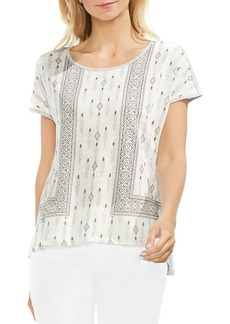 VINCE CAMUTO Mixed Geometric Print Top