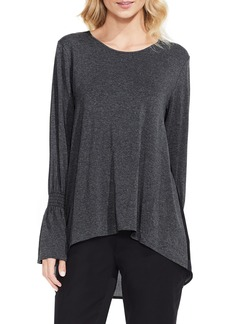 Vince Camuto Mixed Media Flare Sleeve Top