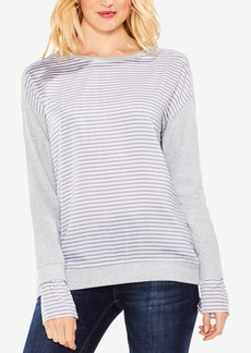 Vince Camuto Mixed-Media Layered-Look Top