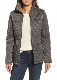 Vince Camuto Mixed Media Quilted Jacket
