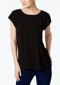 Vince Camuto Mixed-Media T-Shirt