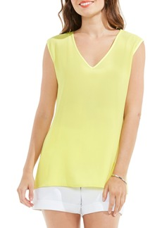 Vince Camuto Mixed Media Top (Regular & Petite)