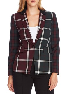 Vince Camuto Mixed Plaid Blazer