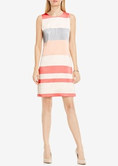 Vince Camuto Mixed-Stripe Sheath Dress