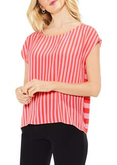 Vince Camuto Mixed Stripe Top
