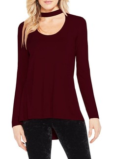 Vince Camuto Mock Choker Neck Long-Sleeve Top