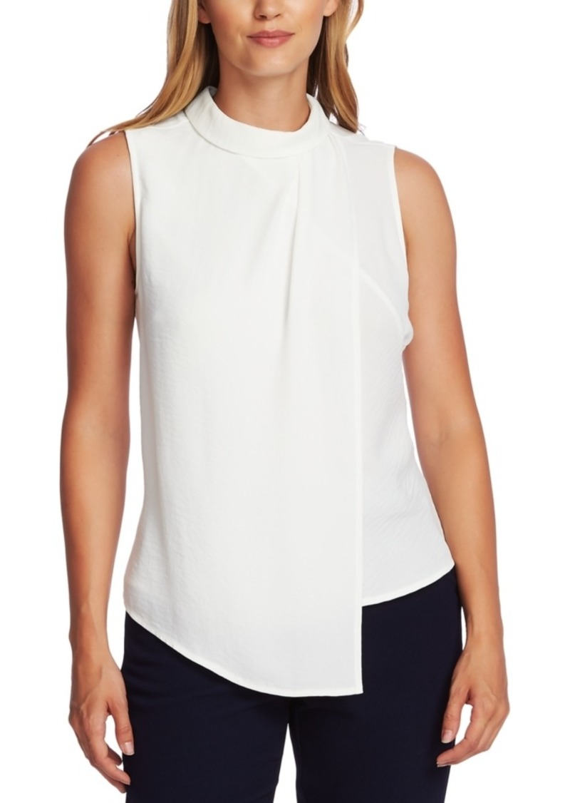 Vince Camuto Mock-Neck Asymmetrical Top