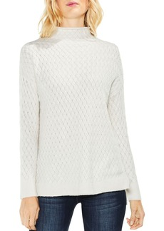 VINCE CAMUTO Mock Neck Novelty-Cable Sweater