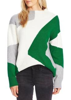 Vince Camuto Mockneck Cotton-Blend Sweater