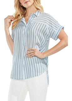 Vince Camuto Modern Canopy Stripe Short Sleeve Top (Regular & Petite)