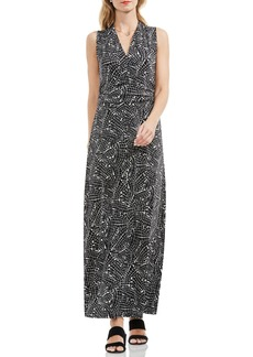 Vince Camuto Modern Mosaic Halter Style Maxi Dress