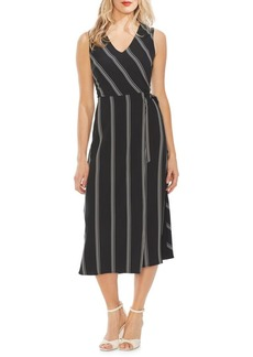 Vince Camuto Modern Rouge Pinstripe A-Line Dress