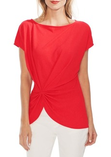 Vince Camuto Modern Rouge Twist Crepe Top
