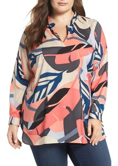 Vince Camuto Modern Tropics Tunic Blouse (Plus Size)