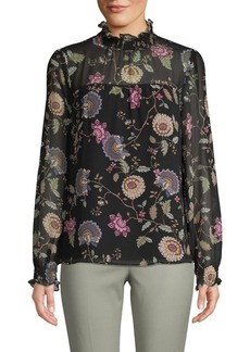 Vince Camuto Moody Floral-Print Blouse