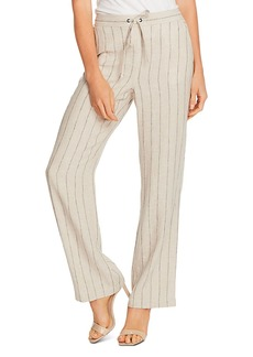 VINCE CAMUTO Natural Stripe Wide-Leg Pants