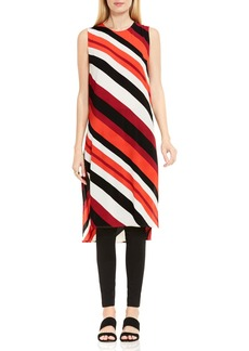 Vince Camuto Nautical Bands Side Slit Tunic