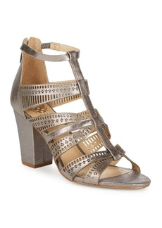 Vince Camuto Nizana Metallic Leather Block Heels