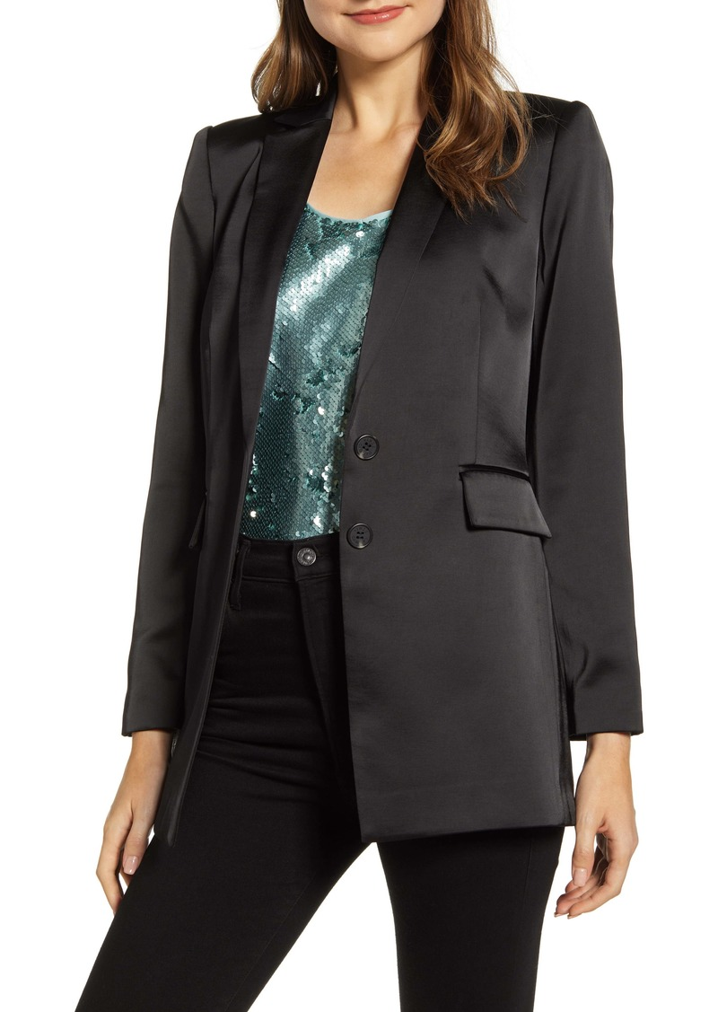 Vince Camuto Notch Collar Satin Blazer