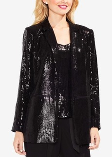 Vince Camuto Notched-Collar Sequined Blazer