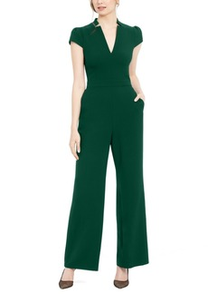 Vince Camuto Notched-Neck Jumpsuit