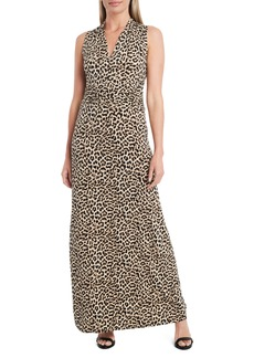 Vince Camuto Nouveau Leopard Jersey Maxi Dress