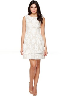 Vince Camuto Novelty Lace Fit and Flare Dress
