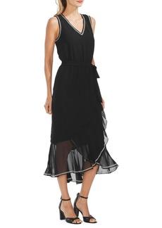 Vince Camuto Oasis Ruffled Chiffon Dress