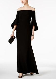 Vince Camuto Off-The-Shoulder Bell-Sleeve Gown