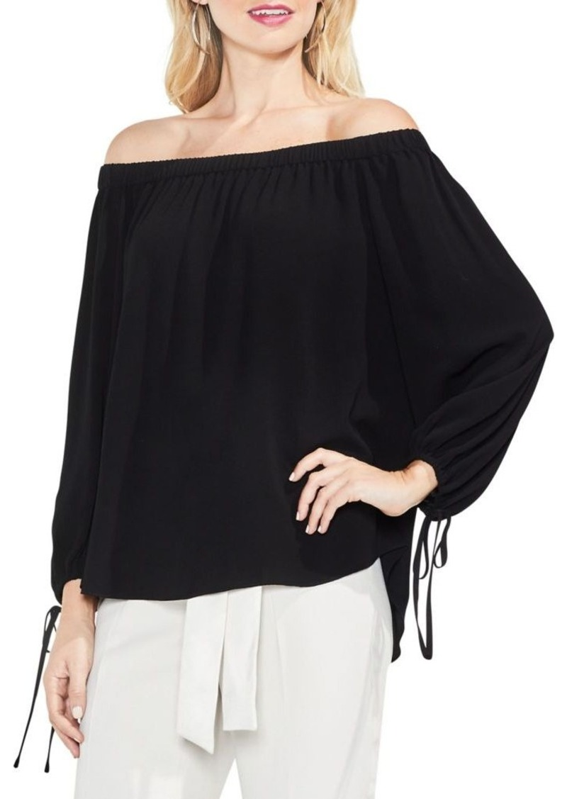 732ff1ae08166 Vince Camuto Vince Camuto Off-The-Shoulder Bubble Sleeve Texture ...