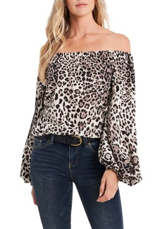 Vince Camuto Off the Shoulder Bubble Sleeve Top