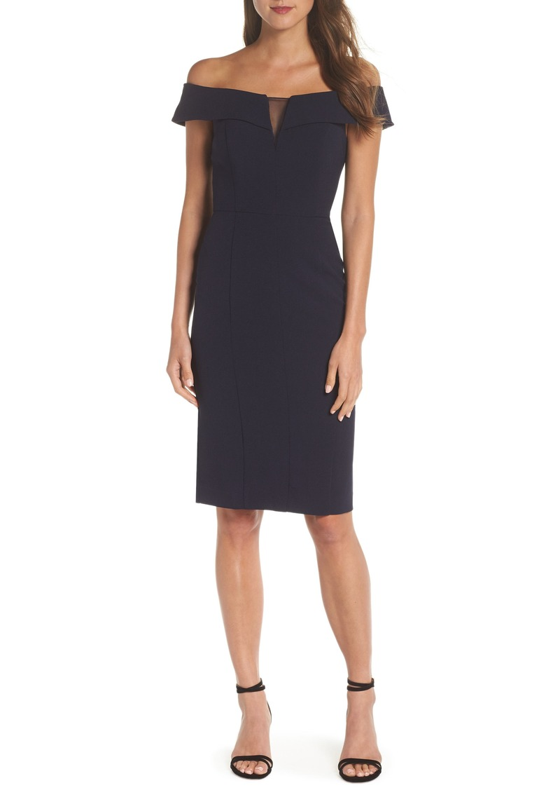 Vince Camuto Off the Shoulder Crepe Dress