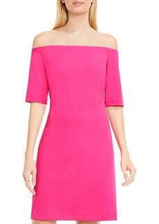 VINCE CAMUTO Off-the-Shoulder Elbow Sleeve Dress