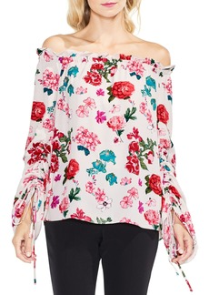Vince Camuto Off the Shoulder Floral Heirloom Top