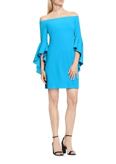 Vince Camuto Off the Shoulder Handkerchief Sleeve Sheath Dress