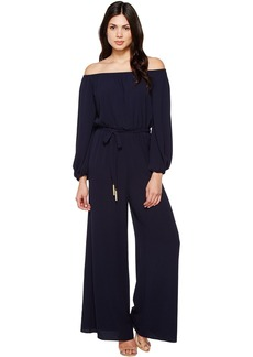 Vince Camuto Off the Shoulder Long Sleeve Jumpsuit