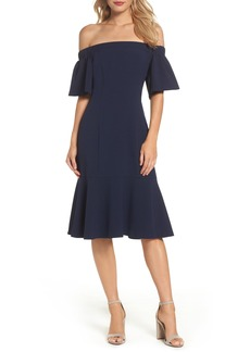 Vince Camuto Off the Shoulder Midi Dress